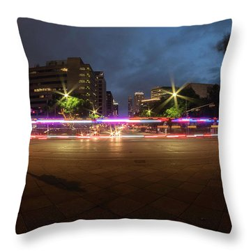 Ambulance Drive By Throw Pillow