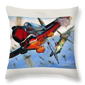 Ambushed Throw Pillow
