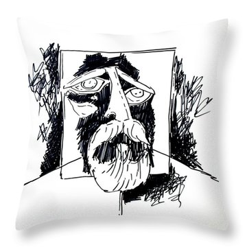 Ameeba 106- Old Man Throw Pillow
