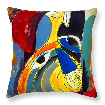 Ameeba 41- Pear Face Throw Pillow