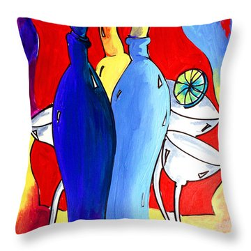 Ameeba 49- Bottles Throw Pillow