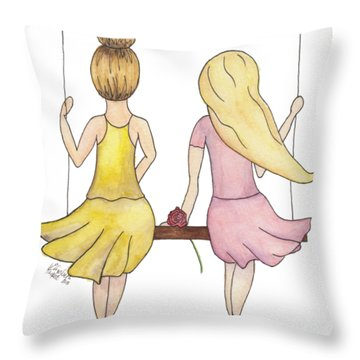 Amelia And Lillian Throw Pillow