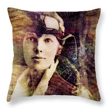 Amelia Throw Pillow by Barbara Berney