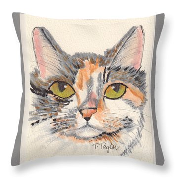 Amelia Throw Pillow by Terry Taylor