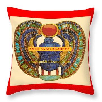 Amen Ankh Akademy Throw Pillow