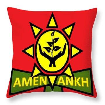 Amen Ankh Sunset Throw Pillow