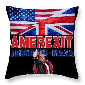 Amerexit Throw Pillow
