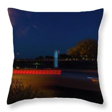 America At Night Throw Pillow