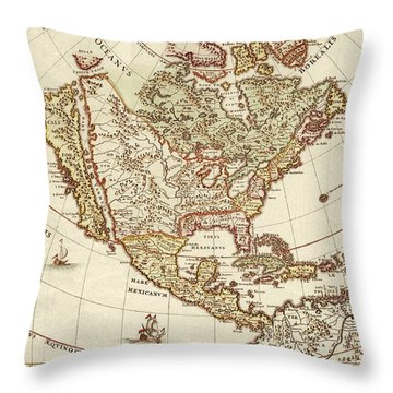 America Borealis 1699 Throw Pillow