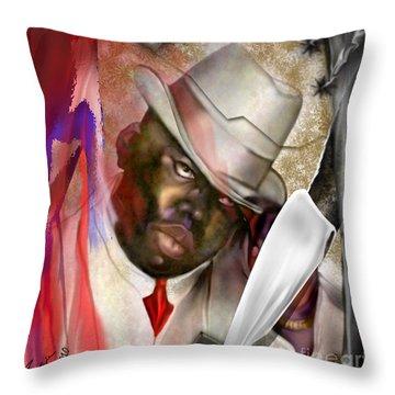 America Brainchild Throw Pillow by Reggie Duffie