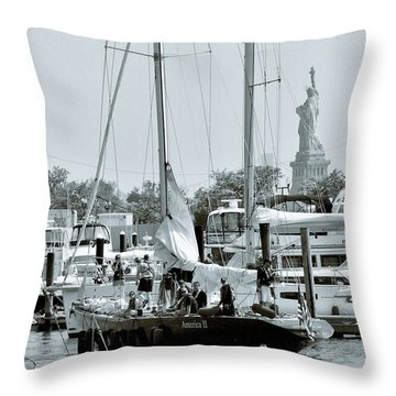 America II And The Statue Of Liberty Throw Pillow