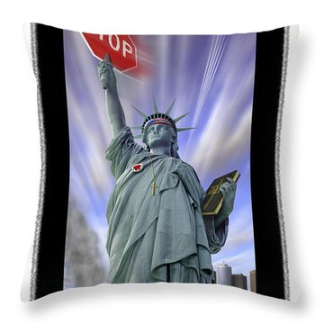 America On Alert II Throw Pillow by Mike McGlothlen