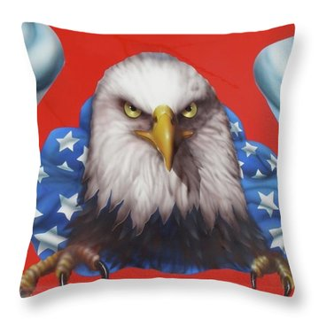Throw Pillow featuring the painting America Patriot  by Alan Johnson