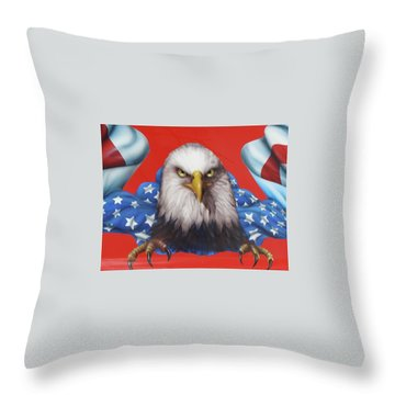 America Patriot  Throw Pillow