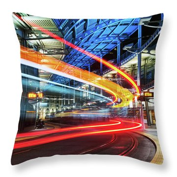 America Plaza Station Throw Pillow