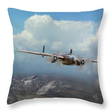 Throw Pillow featuring the digital art America Strikes Back by Peter Chilelli