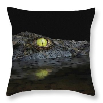 American Aligator Throw Pillow