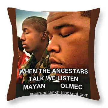 American Ancestars Throw Pillow