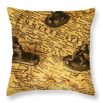 American Army  Throw Pillow