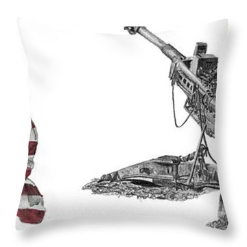 American Artillery Throw Pillow