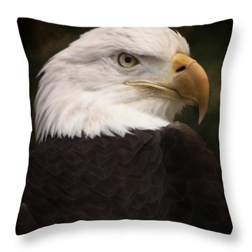 American Bald Eagle Throw Pillow by Joseph G Holland