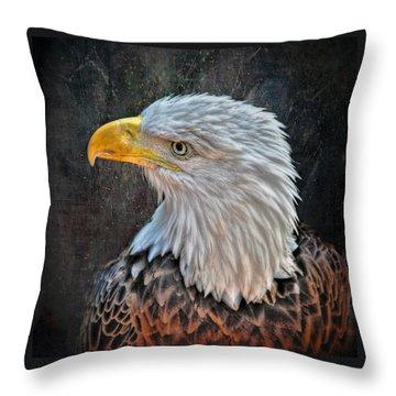 Throw Pillow featuring the photograph American Bald Eagle by Savannah Gibbs