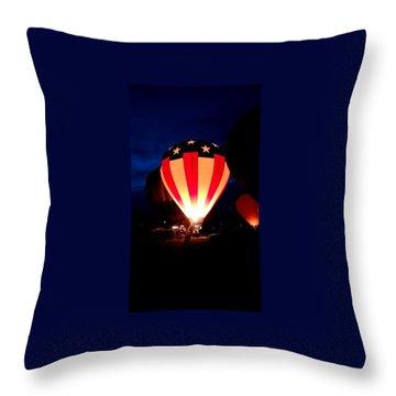 American Balloon Throw Pillow