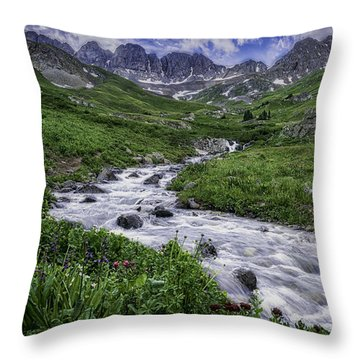 Throw Pillow featuring the photograph American Basin #2 by Bitter Buffalo Photography