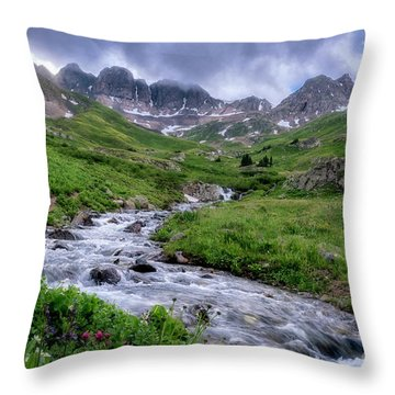 Throw Pillow featuring the photograph American Basin by Bitter Buffalo Photography