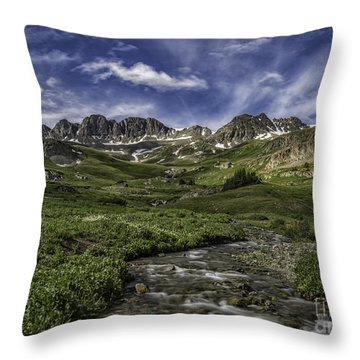 Throw Pillow featuring the photograph American Basin Trail Head by Bitter Buffalo Photography