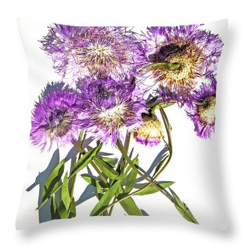 American Basket Flower Throw Pillow
