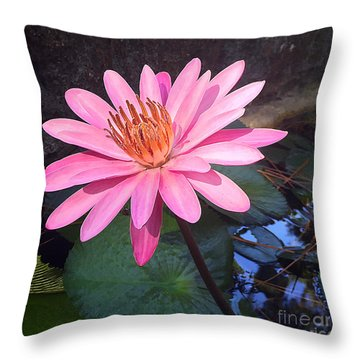 Throw Pillow featuring the photograph Full Bloom by LeeAnn Kendall