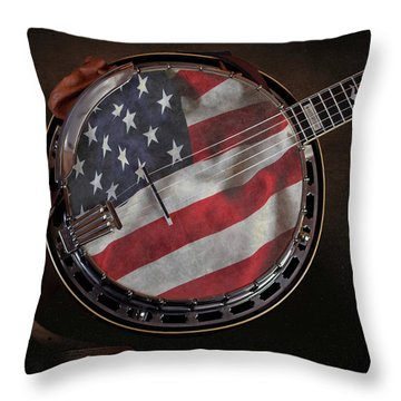 American Bluegrass Music Throw Pillow