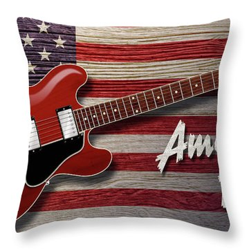 American Blues 335 Throw Pillow
