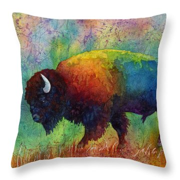 American Buffalo 6 Throw Pillow by Hailey E Herrera