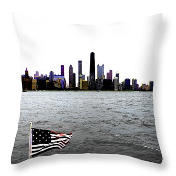 American Chi 3 Throw Pillow