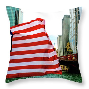 American Chi Throw Pillow