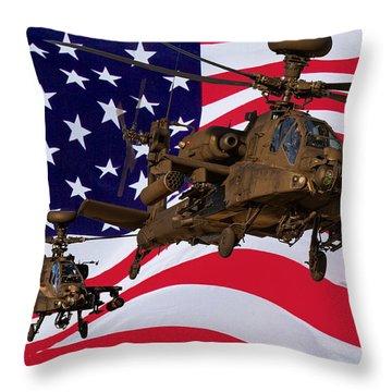 American Choppers Throw Pillow by Ken Brannen