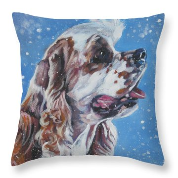 American Cocker Spaniel Throw Pillow by Lee Ann Shepard