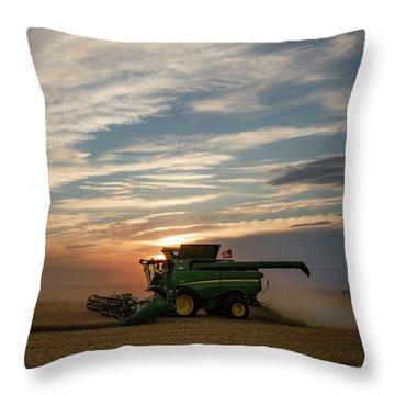 American Combine Throw Pillow