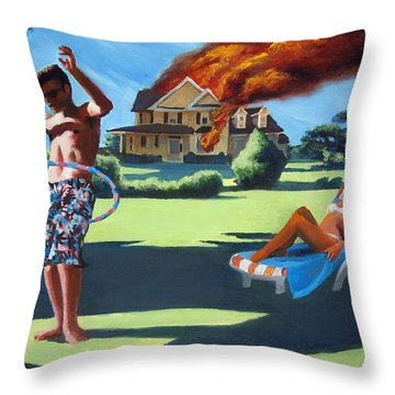 American Couple Redux Throw Pillow by Geoff Greene