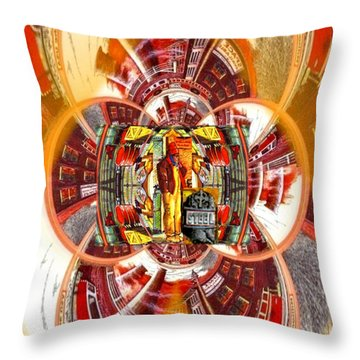 American Dream Burning - Workers Betrayed Throw Pillow by Ray Tapajna