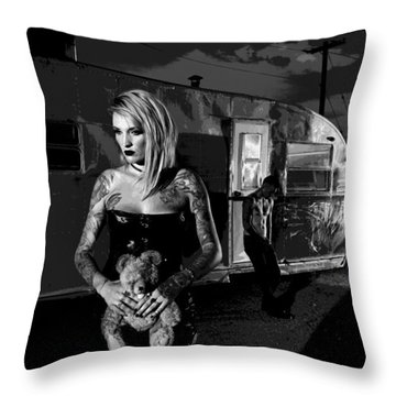 American Dreamscapes Highway 97 Iv Throw Pillow