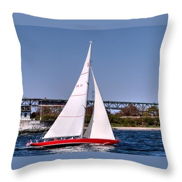American Eagle Newport Ri Throw Pillow