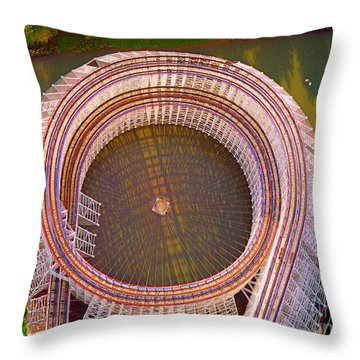 Throw Pillow featuring the photograph American Eagle Roller Coaster  by Tom Jelen