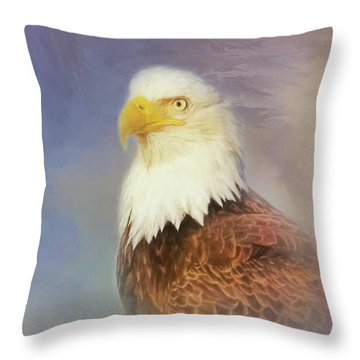 American Eagle Throw Pillow by Steven Richardson