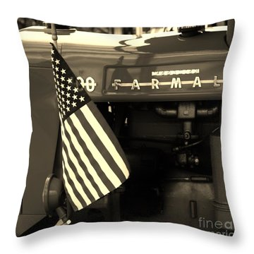 American Farmall Throw Pillow by Meagan  Visser