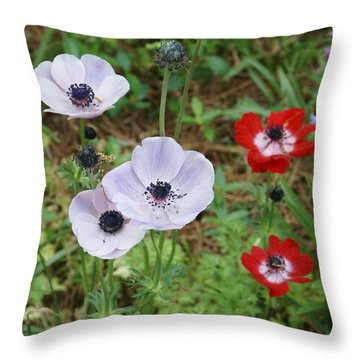American Flowers Throw Pillow