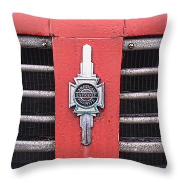 American Foamite Firetruck Emblem Throw Pillow