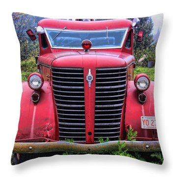 American Foamite Firetruck1 Throw Pillow
